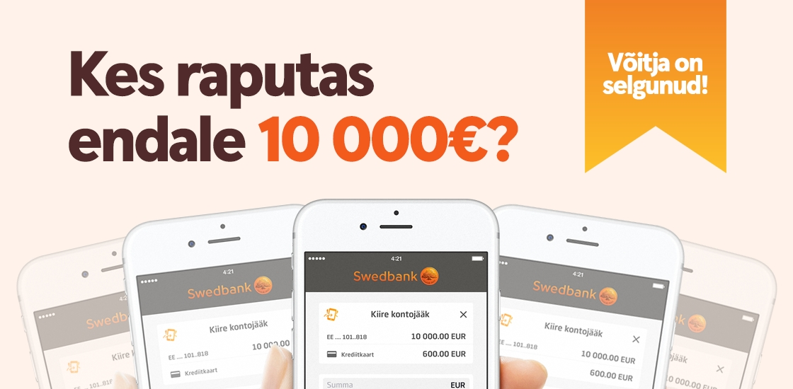 Mobiilipanga kampaania 10 000 eurot võitis…
